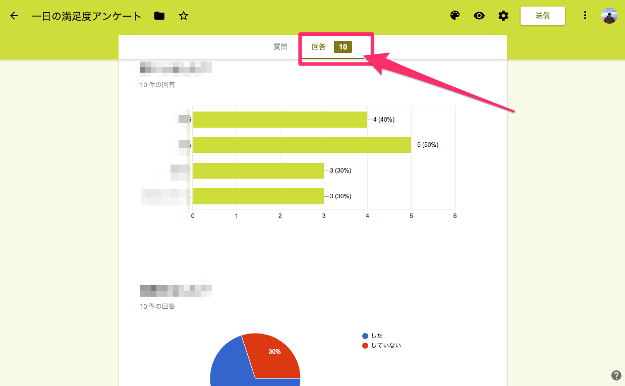 Googleフォーム集計データ
