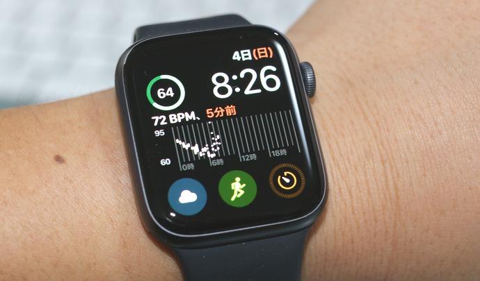 applewatch4を装着