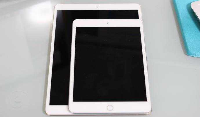 iPad Pro10.5インチとmini4大きさ比較